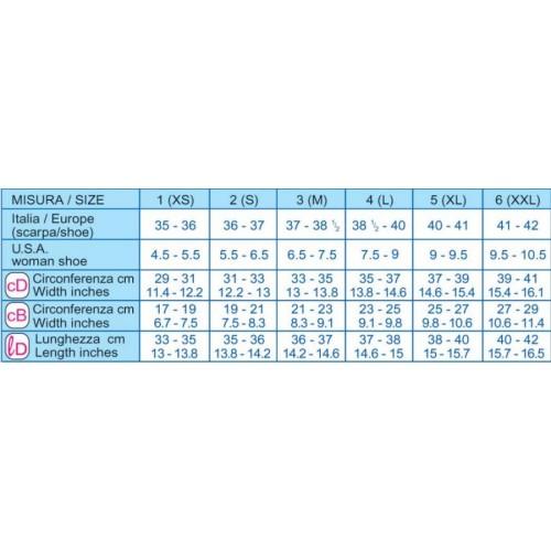 Gambaletto 70 den (mm Hg 15-18) PUNTA APERTA